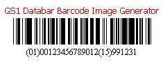 GS1 Databar Barcode Image Generator