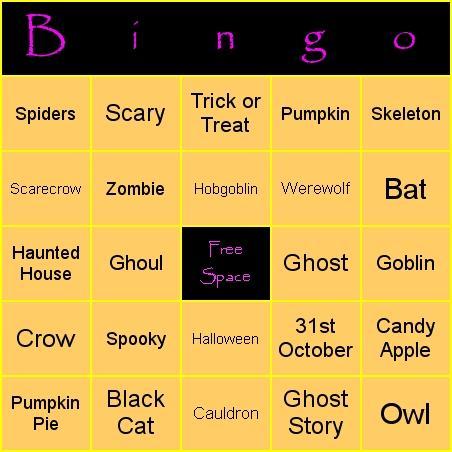 Download Halloween Bingo