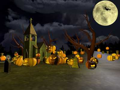 Download Halloween Graveyard 3D Screensaver