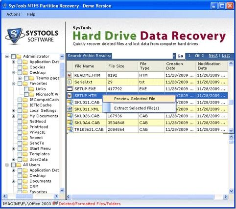 Download Hard Drive Data Recovery