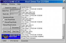 Download HDS1504 Software for Motorola CS-1504