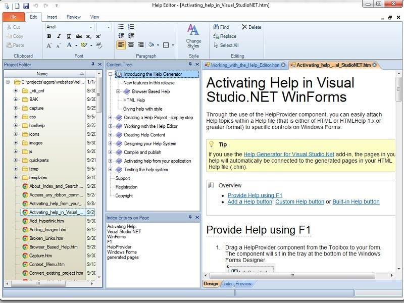 Help Generator for Visual Basic 6 0 - standaloneinstaller com