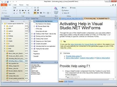 Download Help Generator for Visual Studio 2003