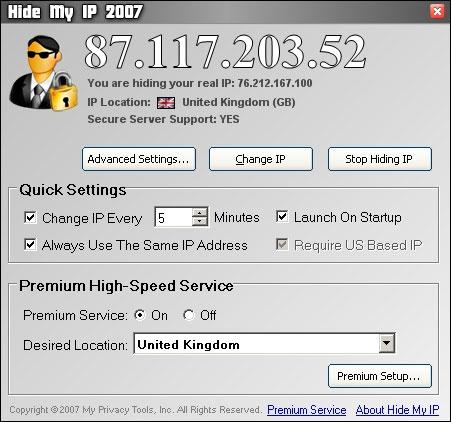 Download Hide My IP 2007