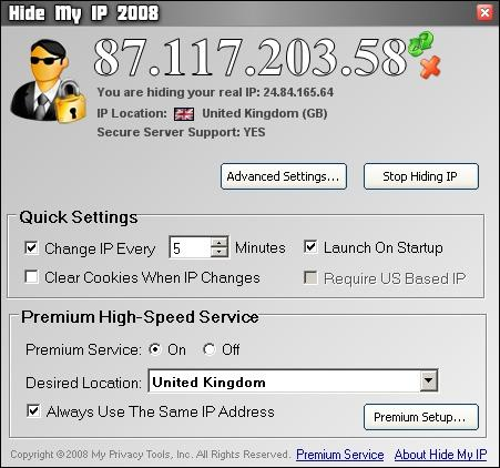 Download Hide My IP 2008
