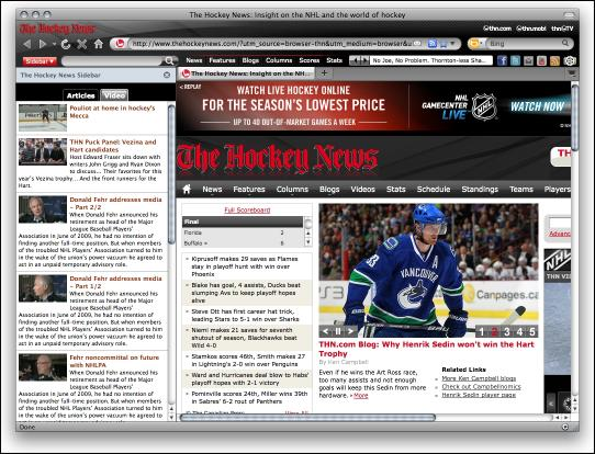 Download Hockey News IE Browser Theme