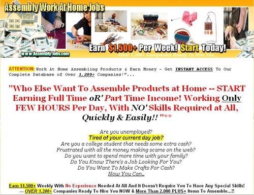 Home Assembly Jobs - standaloneinstaller com