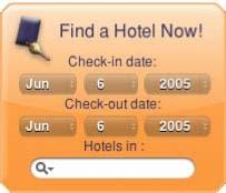 Download HotelSearch Yahoo! Widget