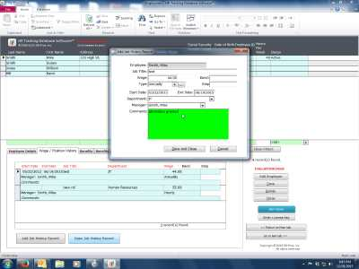 HR Tracking Database Software