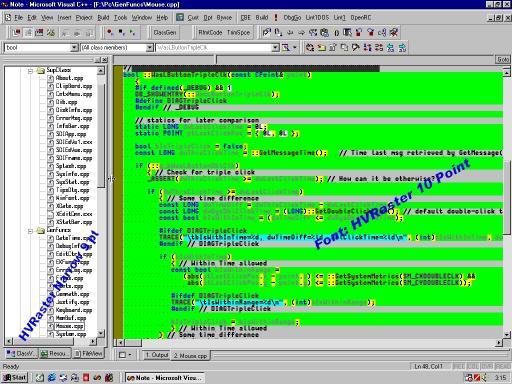 Download HVRaster - Programmers Editor Font