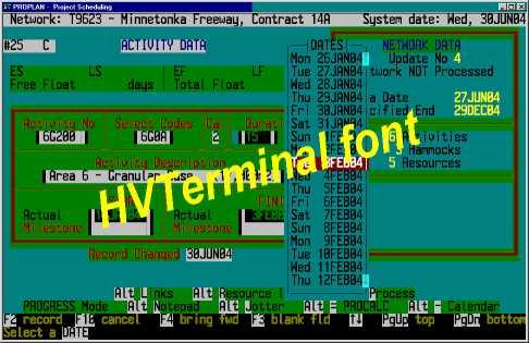 HVTerminal TrueType Terminal Font