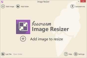 Download Icecream Image Resizer