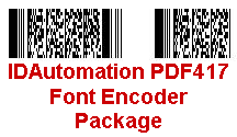 IDAutomation PDF417 Font Encoder Package