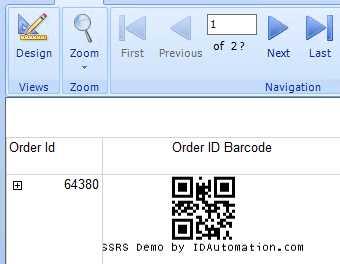 IDAutomation QRCode 2D SSRS Script