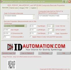 IDAutomation RSS Composite Image Generator