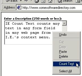 Download IE Count Text