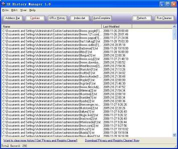 Download IE History Manager