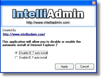 Download IE7 Automatic Install Disabler