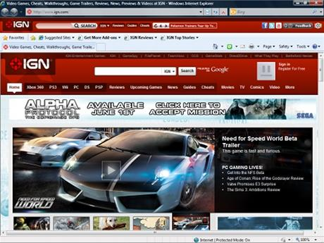 Download IGN Internet Explorer Theme