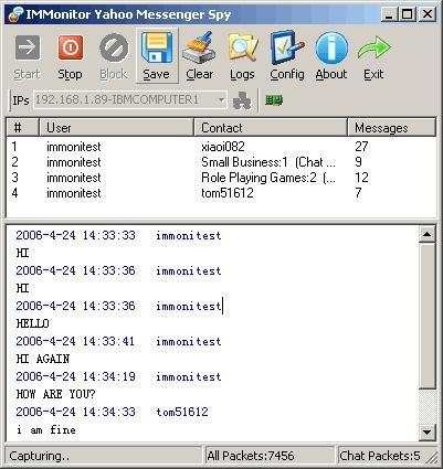 Download IMMonitor Yahoo Messenger Spy
