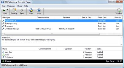 Download IMS Telephone On-Hold Player Software