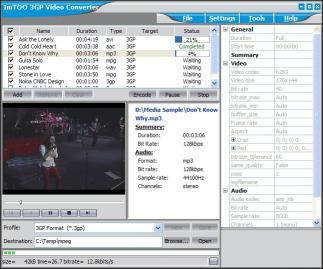 Download ImTOO 3GP Video Converter Platinum