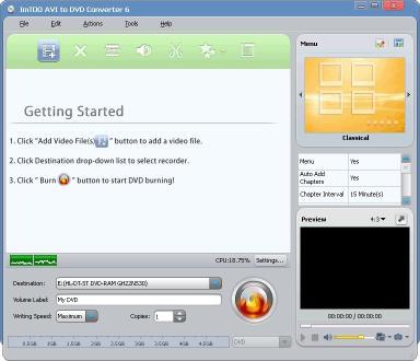 Download ImTOO AVI to DVD Converter