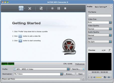 Download ImTOO MP4 Converter for Mac