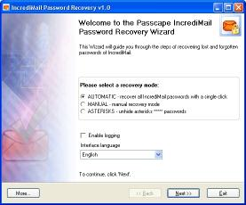 Download IncrediMail Password Recovery