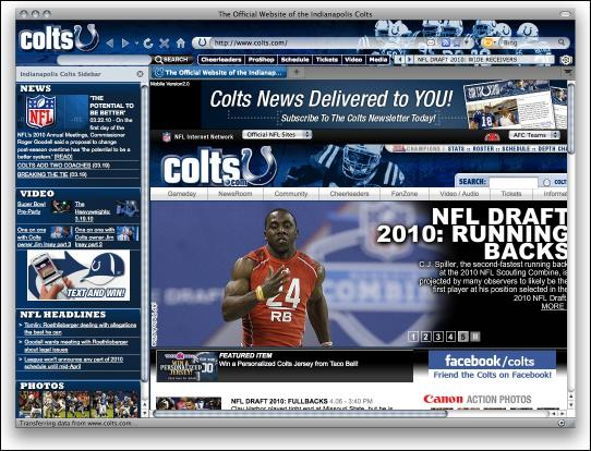 Download Indianapolis Colts Firefox Theme