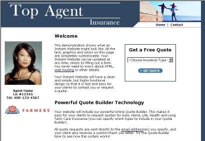 Download Insurance Agency Website Builder