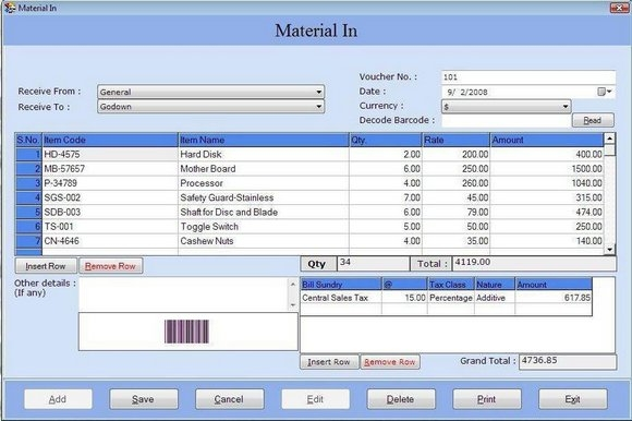 Inventory Management with Barcode - standaloneinstaller com