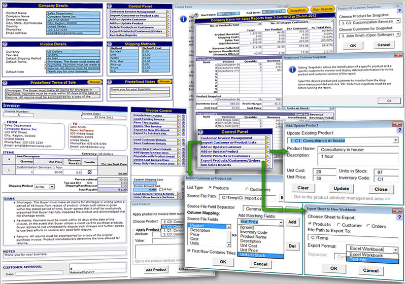 Invoice Template For Excel Standaloneinstaller