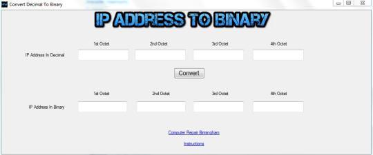 IP Address Binary Converter - standaloneinstaller com
