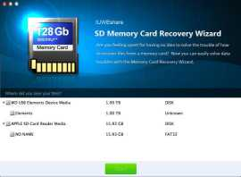 IUWEshare Mac SD Memory Card Recovery Wizard for Mac