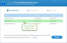 Jihosoft iOS10 Backup Extractor