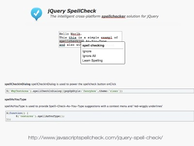 Download jQuery Spell Check