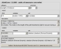 Download JUnitConv - Units Of Measure Converter