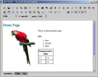 Download JXHTMLEDIT - WYSIWYG XHTML Editor
