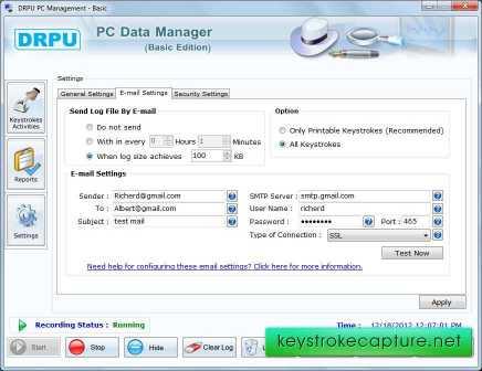 Keystrokes Capture Software