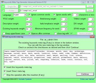 Download Keywords Meta Tag Generator Advanced