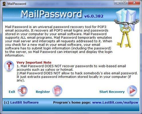 Download LastBit Mail Password Recovery