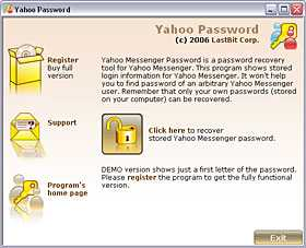 LastBit Yahoo Messenger Password Recovery