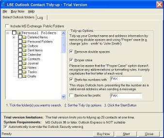 Download LBE Contact Tidy Up for MS Outlook