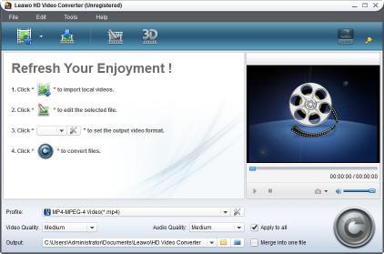 Download Leawo MTS/M2TS Converter