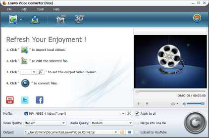 Download Leawo Video to FLV Converter