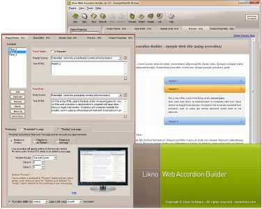 Likno Web/jQuery Accordion Builder