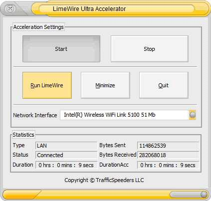 Download LimeWire Ultra Accelerator