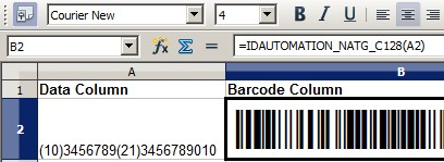 Download Linear Barcode Generator for OpenOffice