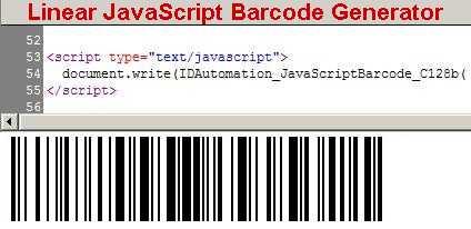Download Linear JavaScript Barcode Generator